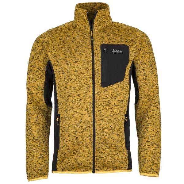 Férfi polár pulóver KILPI RIGAN-M sárga