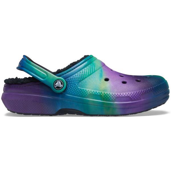 Crocs CLASSIC LINED női cipő fekete / lila