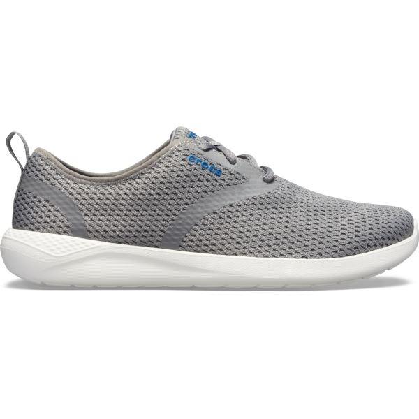 Férfi cipő Crocs LiteRide Mesh Lace M világosszürke / fehér