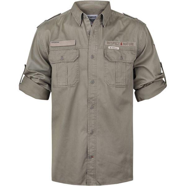 BUSHMAN Hammer khaki férfi ing