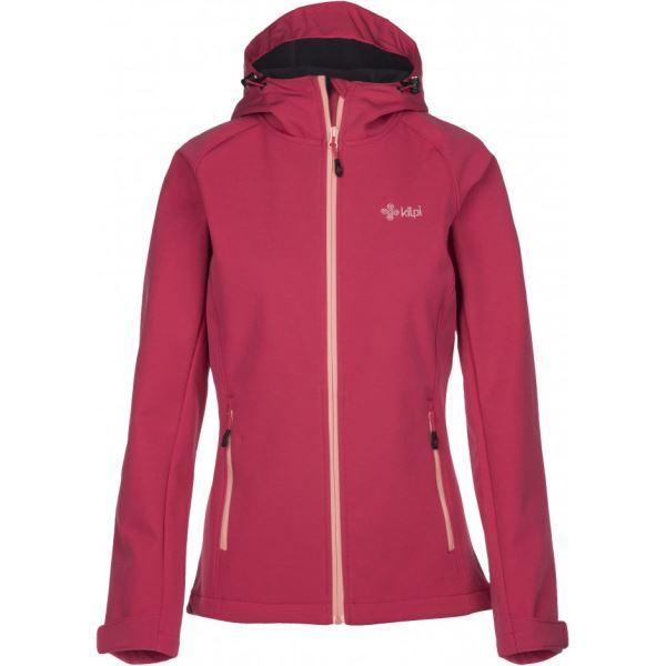 Női softshell kabát KILPI ELIA rózsaszín