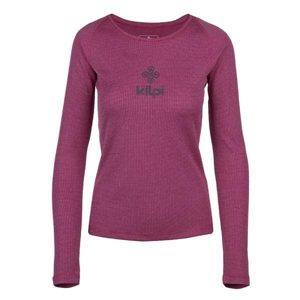 Női funkcionális póló KILPI FLIN-W sötétvörös