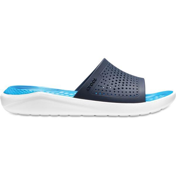 Unisex papucs Crocs LiteRide Slide sötétkék / fehér