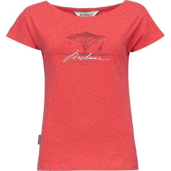 Női póló BUSHMAN BOGALUSA piros