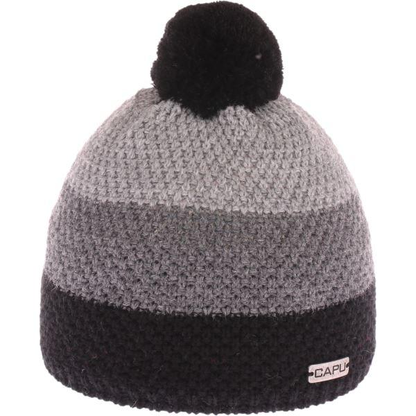 Gyermek téli sapka CAPU 631 szürke / fekete