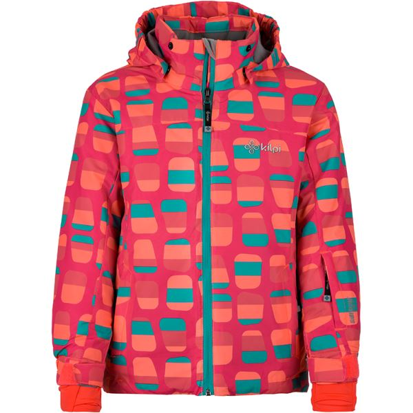 Gyermek téli kabát KILPI GENOVESA-JG sötét rózsaszín