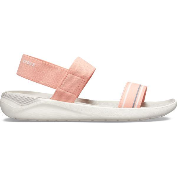 Női szandál Crocs LiteRide Sandal W dinnye rózsaszín / fehér