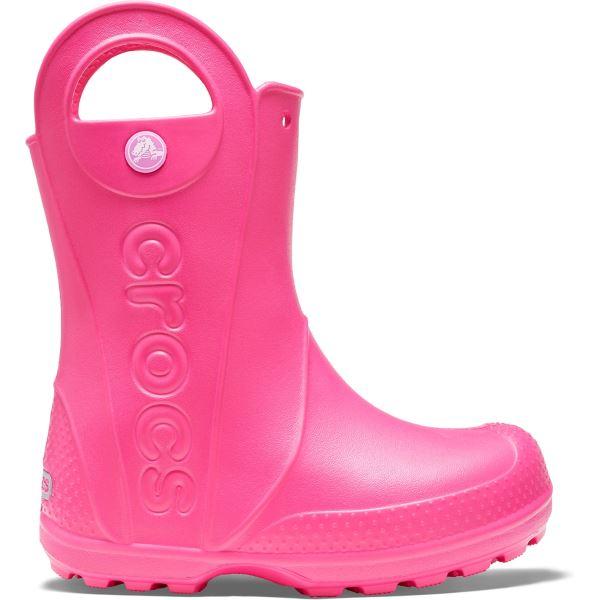 Gyerekcsizma Crocs HANDLE It Rain Boot rózsaszín