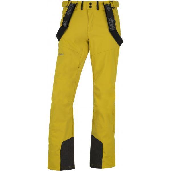 Férfi sí softshell nadrág KILPI RHEA-M sárga
