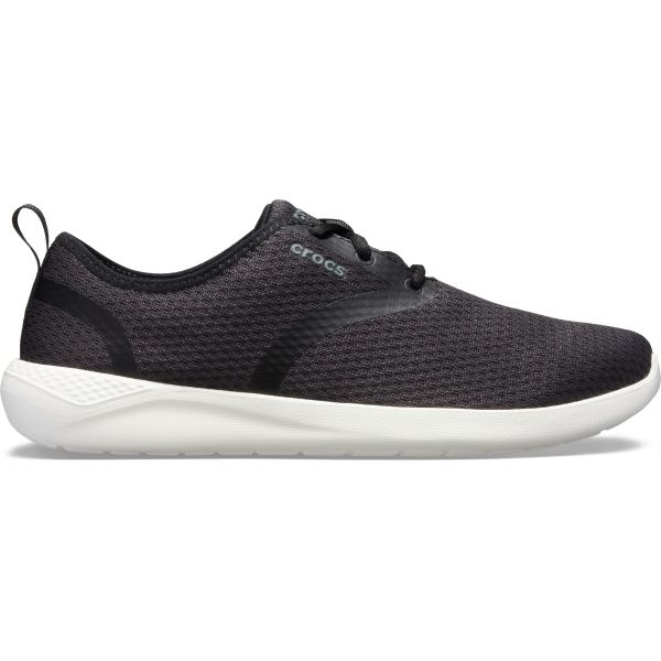 Férfi cipő Crocs LiteRide Mesh Lace M fekete / fehér