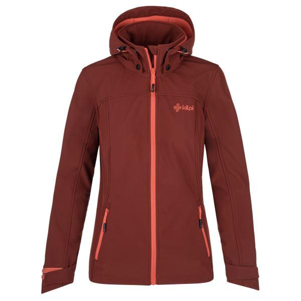 Női softshell kabát KILPI RAVIA-W sötétvörös