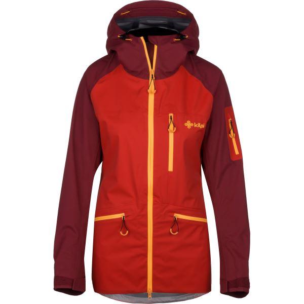 Női háromrétegű kabát KILPI NALAU-W piros