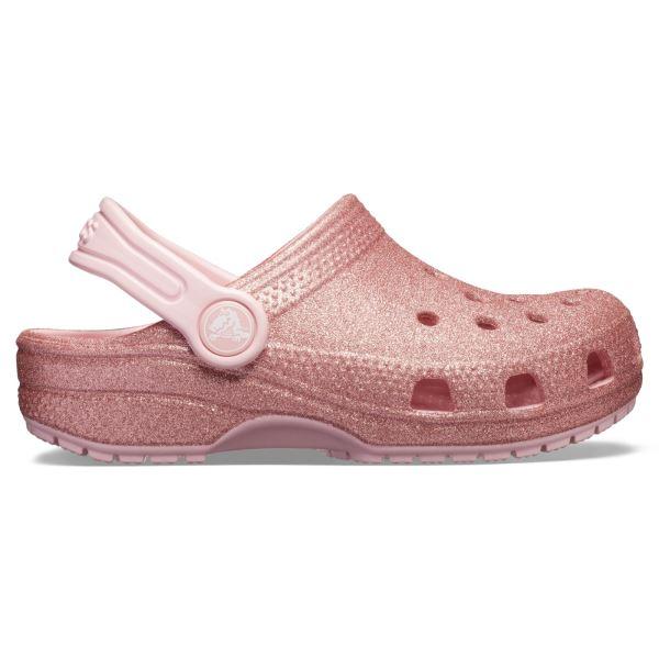 Gyerekcipő Crocs CLASSIC GLITTER rózsaszín