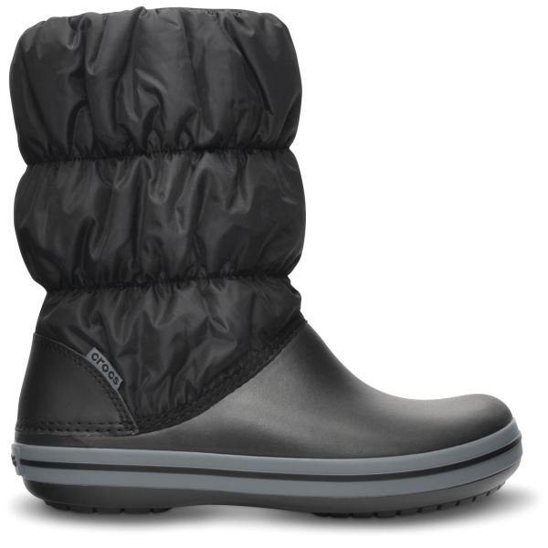 Női téli csizma Crocs WINTER PUFF fekete