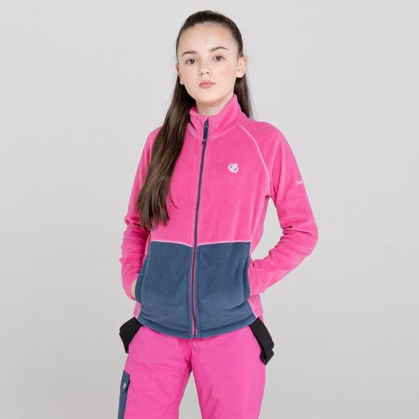 Gyermek gyapjú pulóver Dare2b WITTY rózsaszín / sötétkék