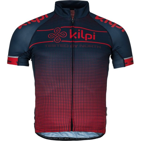 Férfi kerékpáros mez KILPI ENTERO-M piros
