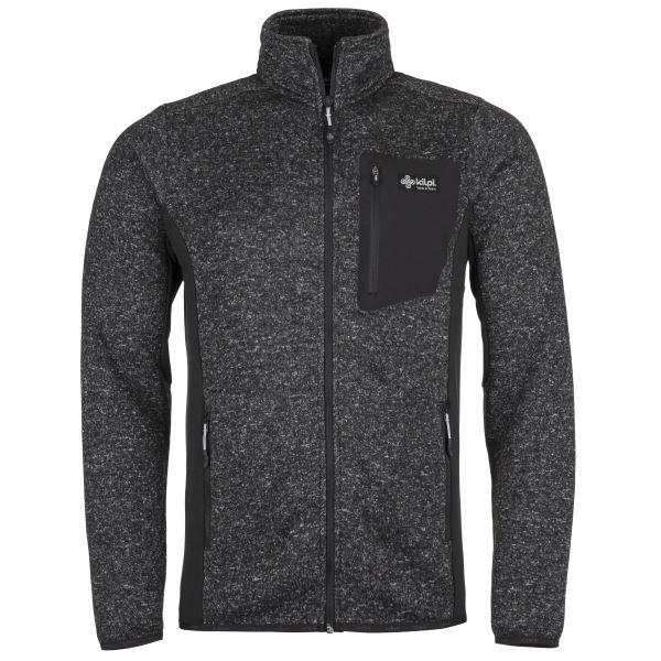 Férfi polár pulóver, KILPI RIGAN-M sötétszürke