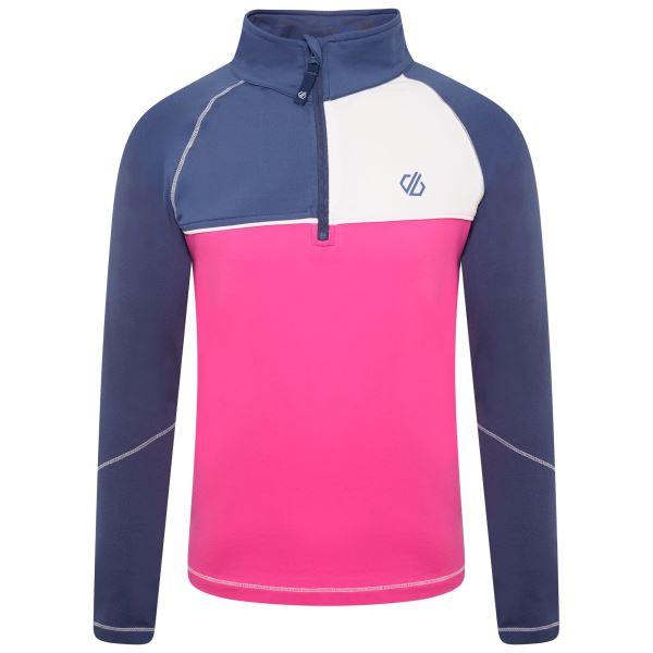 Gyermek funkcionális póló Dare2b FORMATE sötétkék / rózsaszín